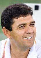 Brazil head coach <b>Jorge Barcellos</b> watches his team before the quarterfinals <b>...</b> - I0000w_mEWFa7new