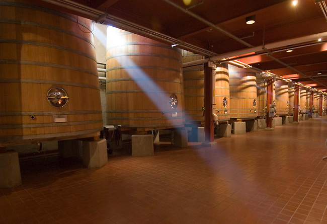 Wood tanks at Robert Mondavi winery