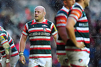 Dan Cole of Leicester Tigers looks on during a break in play. Aviva Premiership match, between Leicester Tigers and Saracens on January 1, 2017 at Welford Road in Leicester, England. Photo by: Patrick Khachfe / JMP