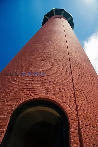 Jupiter Inlet Lighthouse, restored 1860 historic lightouse, Florida, Atlantic Ocean.