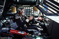 TALLADEGA, AL - MAY 6: Harry Gant prepares to drive during practice for the Winston 500 on May 6, 1984, at Talladega Superspeedway near Talladega, Alabama.