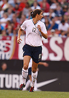 22 MAY 2010:  USA's Yael Averbuch #12 during the International Friendly soccer match between Germany WNT vs USA WNT at Cleveland Browns Stadium in Cleveland, Ohio on May 22, 2010.