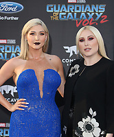 HOLLYWOOD, CA - April 19: Taylor Ann Hasselhoff, Hayley Hasselhoff, At Premiere Of Disney And Marvel's &quot;Guardians Of The Galaxy Vol. 2&quot; At The Dolby Theatre  In California on April 19, 2017. <br /> CAP/MPI/FS<br /> &copy;FS/MPI/Capital Pictures