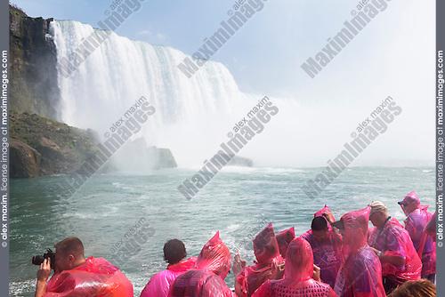 Niagara Falls boat ride. Hornblower Niagara Cruises, Ontario, Canada 2014.