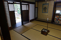 Preserved samurai residence, Murakami-city, Niigata Prefecture, Japan, February 4, 2013. The snowy city in Northern Japan is famous for hot-springs, tea and salt salmon.