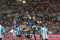Argentina beats Italy 2-1 during the international friendly between Italy vs Argentina at Stadio Olimpico, in Rome, on August 14, 2013 in Rome. In the photo: Mariano Andujar Argentina. Photo: Adamo Di Loreto/BuenaVista*photo