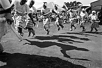 IPLM0032 , South Africa, Venda, June 2001. Venda women wearing Mwendas doing the Tshigombela dance that honours King Tshivhase.