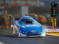 Sep 23, 2016; Madison, IL, USA; NHRA funny car driver John Force during qualifying for the Midwest Nationals at Gateway Motorsports Park. Mandatory Credit: Mark J. Rebilas-USA TODAY Sports