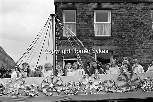 Gawthorpe May Day, Yorkshire, England. 1974
