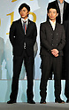 "Ryo Katsuji and Mirai Moriyama, Nov 29, 2011 : November : Tokyo, Japan, Japanese actor Ryo Katsuji  and Mirai Moriyama appears at a press conference for the film ""Kita no Kanaria tachi"" in the Tokyo."