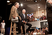 August 13, 2012. Durham, NC.. Vice President Joe Biden spoke to a packed house at the Durham Armory, clearly defining the differences between his and the President's views from those of their challengers Mitt Romney and Paul Ryan, who were in the state over the weekend.