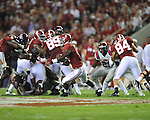 Ole Miss vs. Alabama running back T.J. Yeldon (4) at Bryant-Denny Stadium in Tuscaloosa, Ala. on Saturday, September 29, 2012.