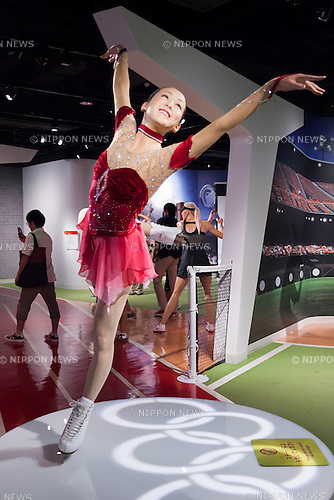 A wax figure of Mao Asada, Japanese figure skater on display at the Madame Tussauds Tokyo wax museum in Odaiba, Tokyo, June 15, 2015. The world famous British wax museum ''Madame Tussauds'' opened its 14th permanent branch in Tokyo in 2013 and exhibits international and local celebrities, sports players and politicians. New additions to the collection include wax figures of the Japanese figure skater Mao Asada and the actor Benedict Cumberbatch. The wax figure of Benedict Cumberbatch will be exhibited until June 30th. (Photo by Rodrigo Reyes Marin/AFLO)