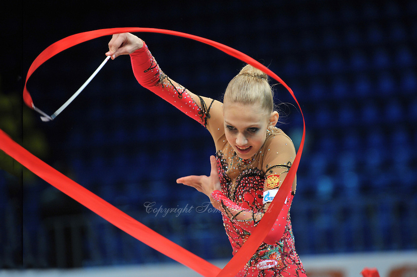 "ELIZAVETA NAZARENKOVA of Russia performs at 2011 World Cup Kiev, ""Deriugina Cup"" in Kiev, Ukraine on May 7, 2011."