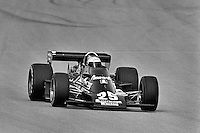 INDIANAPOLIS, IN - MAY 25: Danny Ongais drives his Parnelli VPJ6C/Cosworth during practice for the Indy 500 at the Indianapolis Motor Speedway in Indianapolis, Indiana, on May 25, 1980.