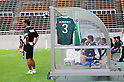 General view,SEPTEMBER 3, 2011 - Football / Soccer :..Matsumoto Yamaga FC head coach Yoshiyuki Kato stands in front of the bench hung with the late Naoki Matsuda's shirt before the 91st Emperor's Cup first round match between Matsumoto Yamaga F.C. 3-0 Maruoka Phoenix at Matsumoto Stadium &quot;Alwin&quot; in Nagano, Japan. (Photo by AFLO)