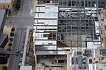 The Austin City Limits studio under construction in the W Hotel as seen from the Austonian building, July 6, 2009.  The Austonian is the tallest building in Austin.