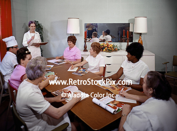 Chef teaching her students