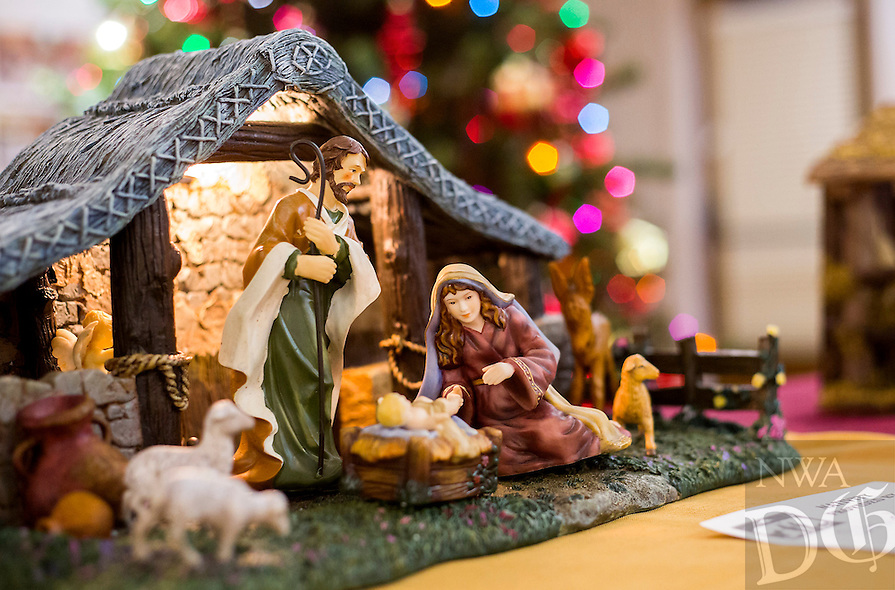 NWA Democrat-Gazette/JASON IVESTER <br /> one of the Nativity scenes on Monday, Dec. 7, 2015, inside the First United Methodist Church of Bella Vista. About 70 various Nativity scenes owned by the church's members were on display for the evening.