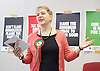 Ken Loach, director of Cathy Come Home launches Left Unity's 2015 manifesto in a Soho squat in Ingestre Court, Ingestre Place, Soho, London, Great Britain <br /> 31st March 2015 <br /> <br /> <br /> Kate Hudson - National Secretary <br /> <br /> <br /> Photograph by Elliott Franks <br /> Image licensed to Elliott Franks Photography Services