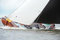 ZEILEN: TERHERNE: Snitser Mar, SKS skûtsjesilen, skûtsje Grou, ©foto Martin de Jong