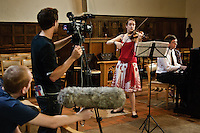 YOUNG MUSICIANS LUNCHTIME CONCERT..Avril Fremantleviolin.Roger Owenspiano..Programme Bach, Beethoven, Turina and Bartok??Winchester Festival photos, done as part of the Winchester City Council Festivals Photography Project - five photographers invited to shoot one of five cultural events during the summer with a group show of the photos scheduled for 2010.??Location:?St Lawrence's Church??Contact:?Ellen Simpson?01962 848 219?ESimpson@winchester.gov.uk??John Miller - ?07968 104951?01962 732410?jonail.miller@tiscali.co.uk??Date Taken: 16/07/09???Client: Winchester Tourism Dept, Ellen Simpson?Ellen Simpson.Tourism Marketing and Development Manager.Winchester City Council.City Offices.Colebrook Street.WINCHESTER.Hants  SO23 9LJ. .Tel 01962 848 219.Fax 01962 848 427. .www.winchester.gov.uk.www.visitwinchester.co.uk.www.winchestermuseumcollections.org.uk