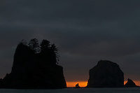 Shi Shi Beach/Point of Arches at Sunset - Olympic National Park - Washington State