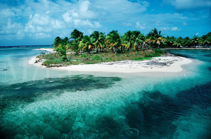 Tropical beach scene, Caribbean, Atlantic Ocean