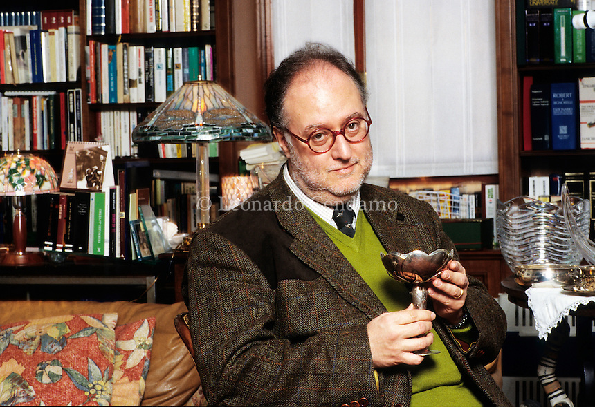 Italy, 2008. Edoardo Raspelli, journalist, writer and gastronomic critic.