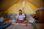 DOMIZ, IRAQ: Salim Bashar Haji deserted the Syrian army and is now a refugee in the Domiz refugee camp...Over 7,000 Syrian Kurds have fled the violence in Syria and are living in the Domiz refugee camp in the semi-autonomous region of Iraqi Kurdistan...Photo by Ali Arkady/Metrography
