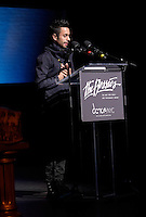 New York City, NY. October 20, 2014. Aakash Odrera address audiece after accepting the 2014 Bessie for Outstanding Performer at the 30th anniversary of the New York Dance and Performance Awards, which were held at the world famous Apollo Theatre in Harlem. Photo by Marco Aurelio/VIEWpress