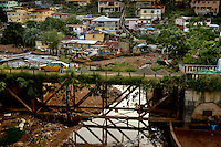 The Peace Bridge in central Freetown.