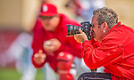 2 March 2013: St. Louis Cardinals Team Photographer Scott Rovak composes an image prior to a Spring Training game against the Washington Nationals at Roger Dean Stadium in Jupiter, Florida. The Nationals defeated the Cardinals 6-2 in their first meeting since the NLDS series in October of 2012. Mandatory Credit: Ed Wolfstein Photo *** RAW (NEF) Image File Available ***