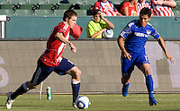 Chivas USA forward Justin Braun takes the ball across field. The Kansas City Wizards defeated CD Chivas USA 2-0 at Home Depot Center stadium in Carson, California on Sunday September 19, 2010.