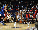 Ole Miss' LaDarius White (10) vs. SMU at the C.M. &quot;Tad&quot; Smith Coliseum in Oxford, Miss. on Tuesday, January 3, 2012. Ole Miss won 50-48.