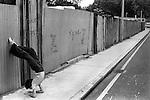 Girl children playing outside.   Oswin street London SE11, Elephant and Castle London 1970s England.Uk.