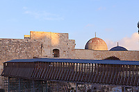 The covered walkway from the Western Wall area to the Temple Mount.