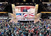 United States Senator Ted Cruz (Republican of Texas) is boo-ed off the stage after making remarks at the 2016 Republican National Convention held at the Quicken Loans Arena in Cleveland, Ohio on Wednesday, July 20, 2016.<br /> Credit: Ron Sachs / CNP<br /> (RESTRICTION: NO New York or New Jersey Newspapers or newspapers within a 75 mile radius of New York City)