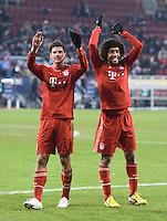 FUSSBALL   1. BUNDESLIGA  SAISON 2012/2013   16. Spieltag FC Augsburg - FC Bayern Muenchen         08.12.2012 Mario Gomez und Dante  (v.li., FC Bayern Muenchen)