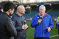 Bath Director of Rugby Todd Blackadder speaks live on BT Sport after the match. Aviva Premiership match, between Bath Rugby and Harlequins on February 18, 2017 at the Recreation Ground in Bath, England. Photo by: Patrick Khachfe / Onside Images