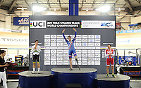 Picture by Simon Wilkinson/SWpix.com - 04/03/2017 - Cycling 2017 UCI Para-Cycling Track World Championships, Velosports Centre, Los Angeles USA - Jozef METELKA, Kyle BRIDGWOOD, Sergei PUDOV
