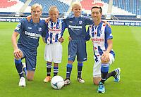 VOETBAL: HEERENVEEN: 23-08-2016, SC Heerenveen nieuwe Hoofdsponsor Groenleven, rechts nieuwe speler Yuki Kobayashi (JAP), ©foto Martin de Jong