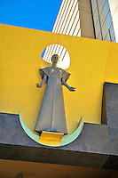 "Robert Graham's, postmodern ""The Virgin Mary"" Cathedral Entrance, Cathedral of Our Lady of the Angels, church, Los Angeles, CA, Downtown, City, church, Spanish architect, Rafael Moneo, acute and obtuse angles"