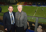St Johnstone v Aberdeen.....30.01.13      SPL.Chairman Steve Brown with Provost Liz Grant.Picture by Graeme Hart..Copyright Perthshire Picture Agency.Tel: 01738 623350  Mobile: 07990 594431