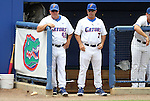 09 June 2012: Florida head coach Kevin O'Sullivan (7) with assistant coach Brad Weitzel (42). The University of Florida Gators defeated the North Carolina State University Wolfpack 7-1 at Alfred A. McKethan Stadum in Gainesville, Florida in Game 1 of their NCAA College Baseball Super Regional series.