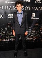 NEW YORK CITY, NY, USA - SEPTEMBER 15: David Mazouz arrives at the New York Series Premiere Of 'Gotham' held at the New York Public Library on September 15, 2014 in New York City, New York, United States. (Photo by Celebrity Monitor)