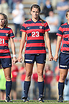 16 November 2013: Liberty's Dawn Elmers (CAN). The University of North Carolina Tar Heels hosted the Liberty University Flames at Fetzer Field in Chapel Hill, NC in a 2013 NCAA Division I Women's Soccer Tournament First Round match. North Carolina won the game 4-0.