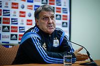 "Argentina soccer coach Gerardo Daniel ""Tata"" Martino speaks with the media before the friendly match between Argentina and Ecuador in New Jersey. 03.30.2015. Eduardo MunozAlvarez / VIEWpress."