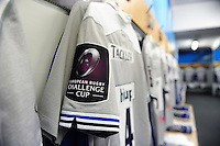 A general view of European Rugby Challenge Cup branding on a Bath Rugby jersey. European Rugby Challenge Cup match, between Cardiff Blues and Bath Rugby on December 10, 2016 at the Cardiff Arms Park in Cardiff, Wales. Photo by: Patrick Khachfe / Onside Images