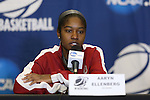 21 March 2014: Oklahoma's Aaryn Ellenberg. The University of Oklahoma Sooners held a training session the day before playing in an NCAA Division I Women's Basketball Tournament First Round game at Cameron Indoor Stadium in Durham, North Carolina.